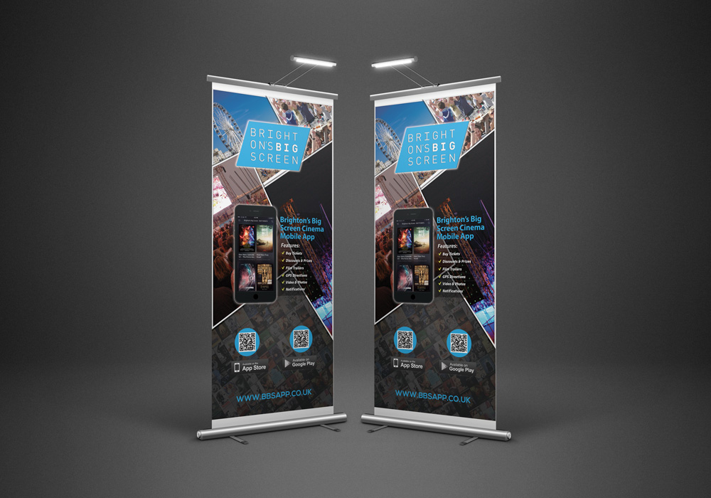Brighton's Big Screen Cinema On The Beach Mobile Application Rollup Banner Developed By Hove Digital