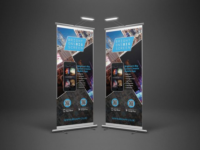 Brighton's Big Screen Cinema Mobile Application Rollup Banner Developed By Hove Digital