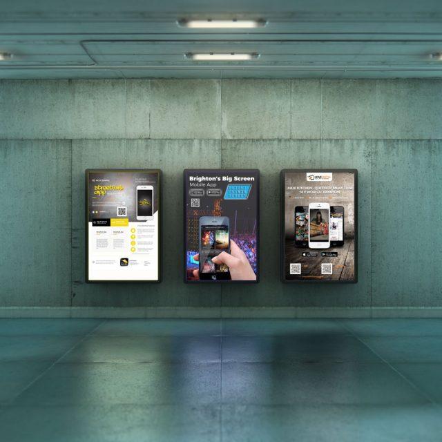 Hove Digital Mobile App Posters