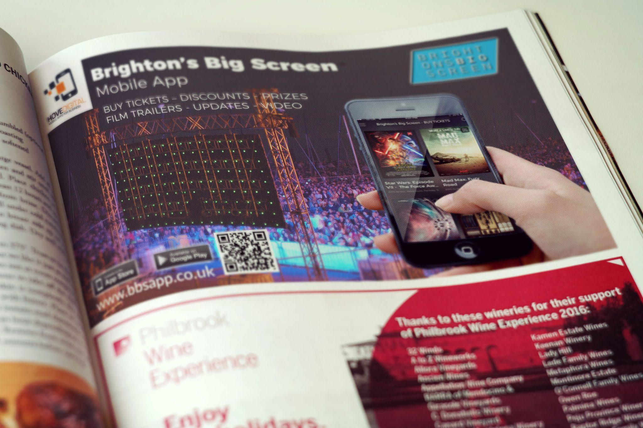 Magazine Advert – Brighton's Big Screen