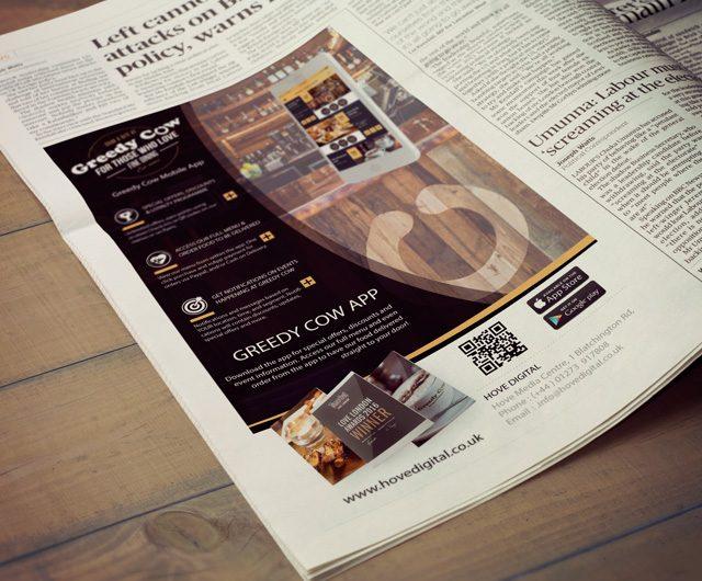 Newspaper Ad Greedy Cow