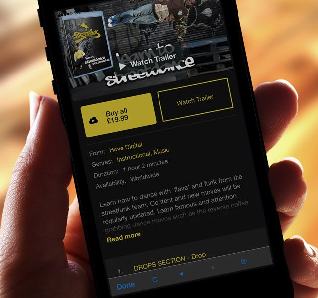 Brighton's Streetfunk Dance Company Mobile Application Video Content, Developed By Hove Digital